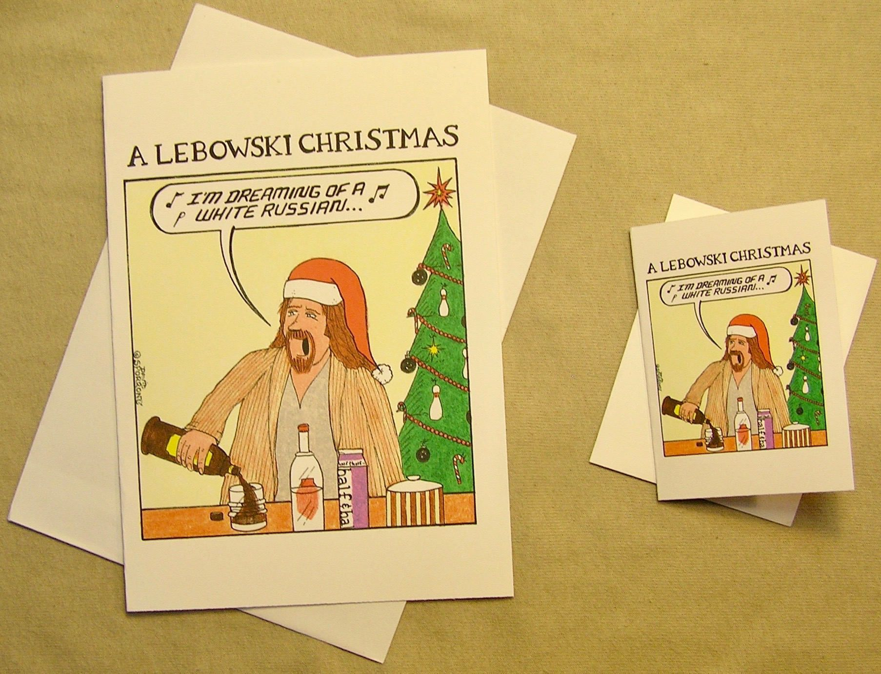 The Big Lebowski Holiday Card Im Dreaming Of A White Russian