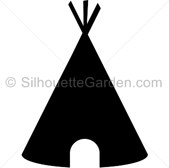 Teepee silhouette clip art. Download free versions of the image in ...