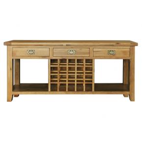 Easyfurn Tv Meubel.Vancouver Oak Va001 Three Drawer Wine Sofa Table Www Easyfurn Co