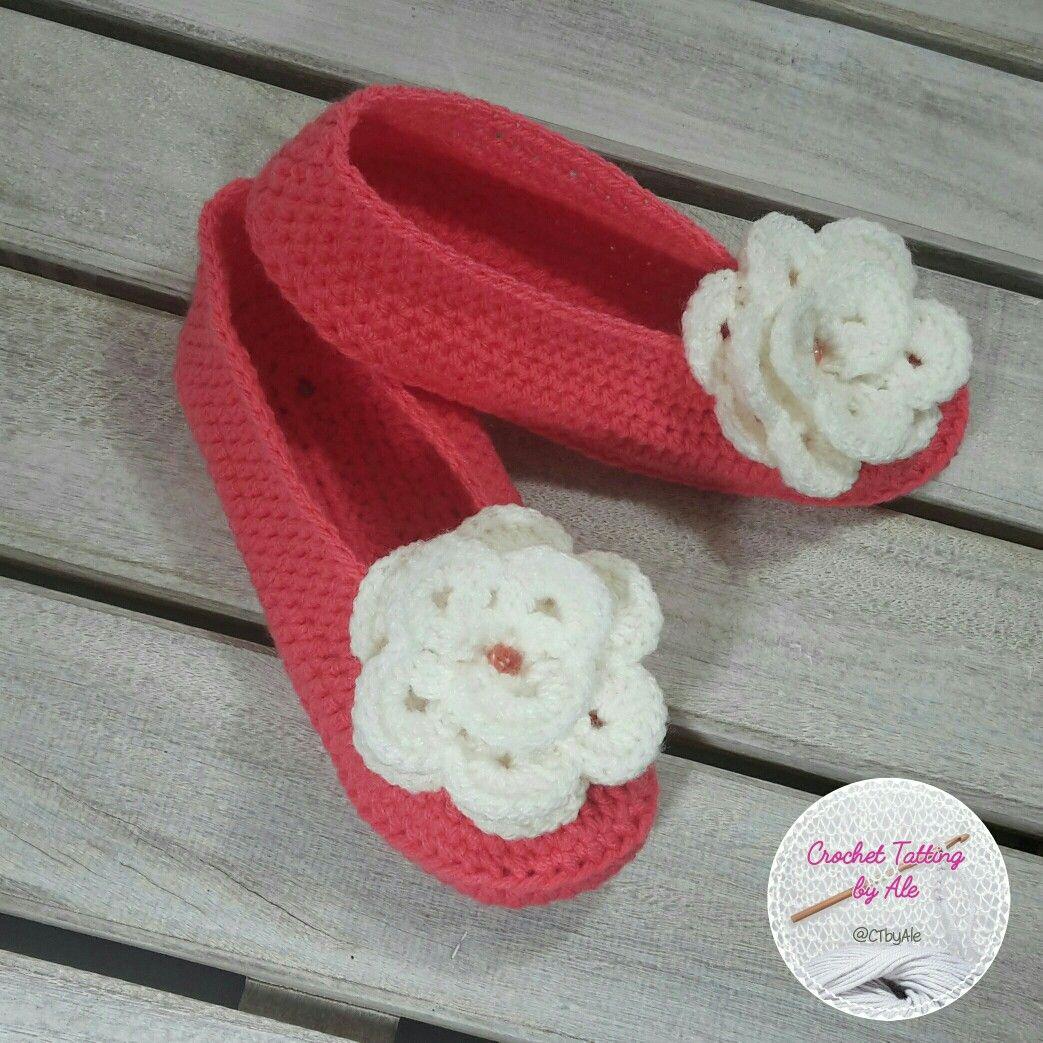 Di My EtsyPantofoleScarpe Su Crochettattingbyale E Donna Pin w0P8knO