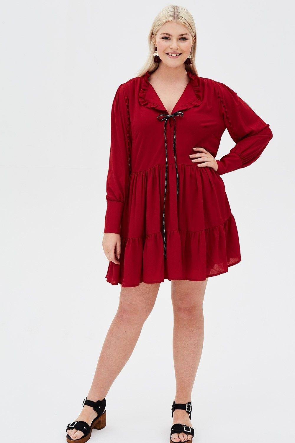 Weure thrilled that our poe dress comes in this striking red colour
