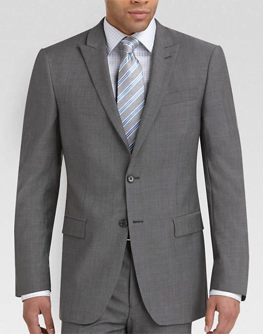 Tallia Gray Tic Slim Fit Suit