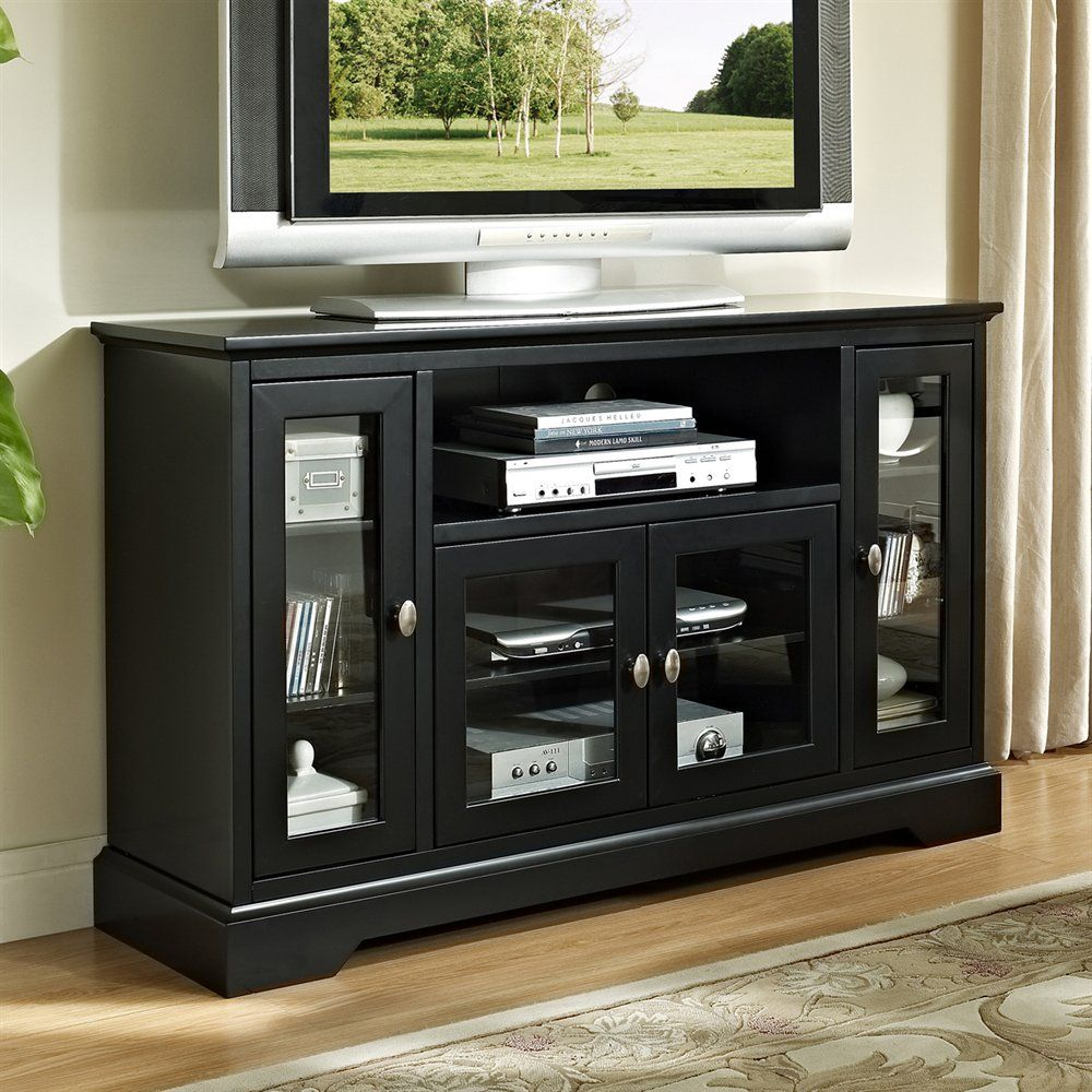 Shop Walker Edison W52c32 Highboy 52 In Tv Stand At The Mine Browse Our Tv Stands All With Free Shipping And Tv Stand Wood Highboy Tv Stand Wooden Tv Stands