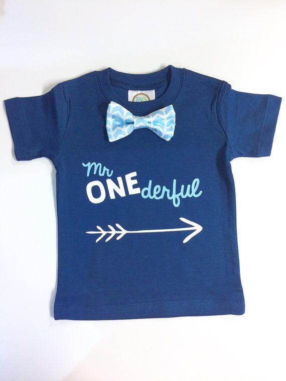b2035c085d0a Boys First Birthday Shirt. Baby Boy 1st Birthday. 1st Birthday Outfit. Mr  Wonderful. One Number Shirt.