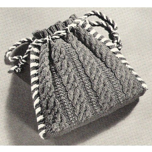 Mail Pouch Knit Tote Bag PDF Pattern, Vintage 1960s | knitting bags ...