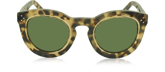 3fad2f5cd8fb CELINE AGNES CL 41403 S T7H1E Havana Acetate Round Women s Sunglasses.   celine