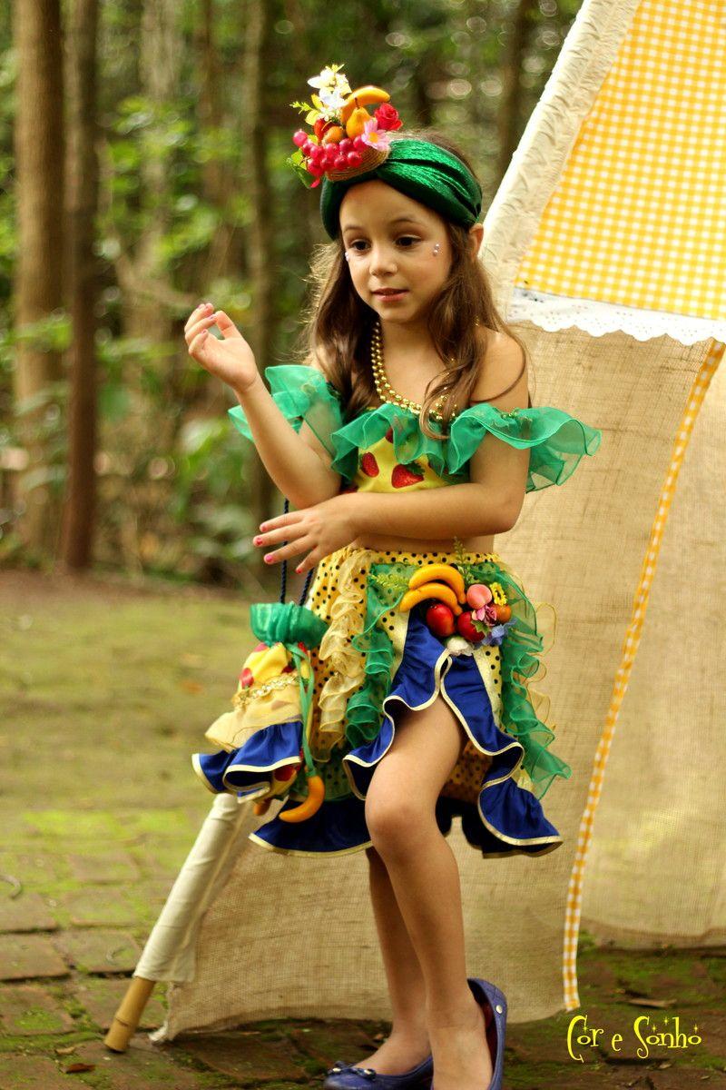 Carmem Miranda Com Imagens Fantasias Infantis Fantasia