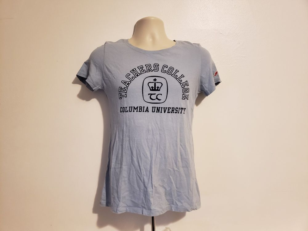 Columbia University Teachers College Women's Medium Blue T