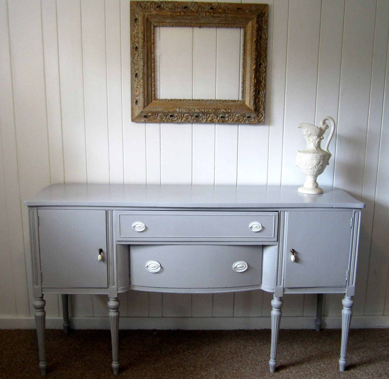 Vintage buffet pintado nuevamente muebles antiguos - Muebles antiguos pintados ...