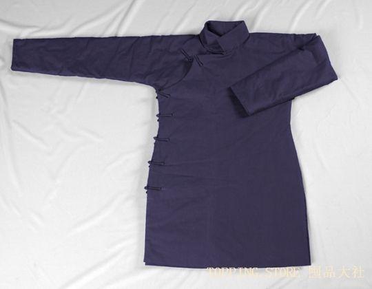 《囤品》中式大襟棉旗袍 棉衣 棉袄 手工缝制 可按尺寸定做,黑色