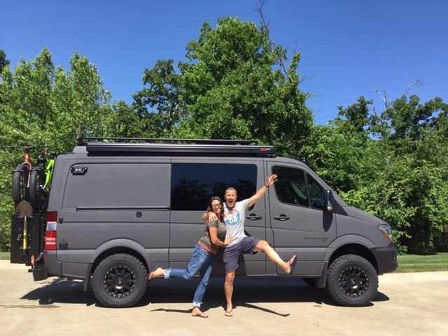 sprinter with aluminess gear happy campers sprinter van aluminum off road bumpers roof. Black Bedroom Furniture Sets. Home Design Ideas