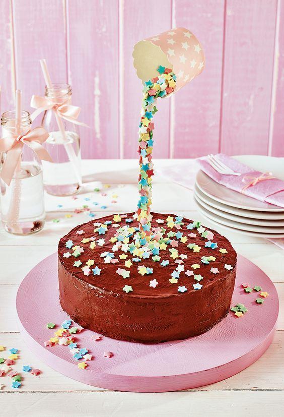 Kleine Torte Mit Sternregen Rezept Geburtstag Pinterest