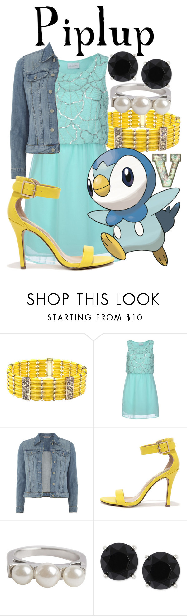 """Piplup (Pokemon)"" by fabfandoms ❤ liked on Polyvore featuring Carissima Bijoux, La Kore, Dorothy Perkins, Breckelle's, Pieces and Anne Klein"