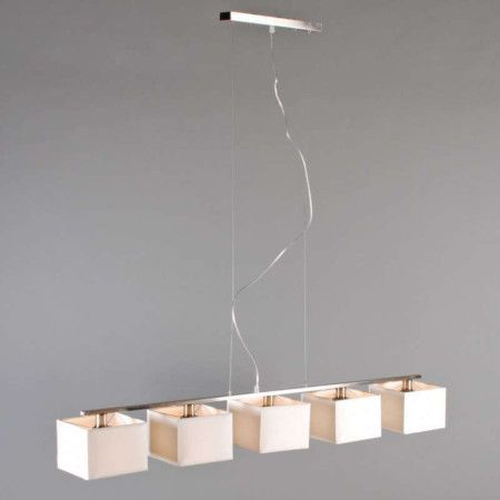 Lámpara colgante VT 5  blanca #iluminacion #lamparayluz.es #textil