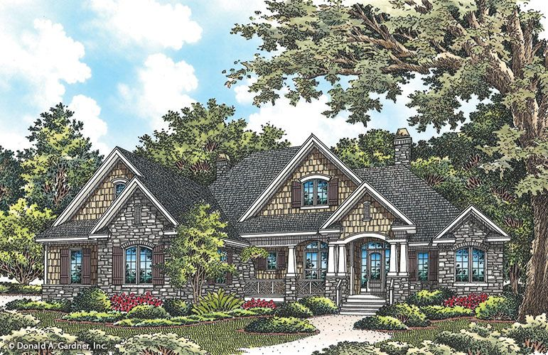 House Plan The Wilkerson By Donald A Gardner Architects Craftsman House Craftsman Style House Plans Craftsman House Plans