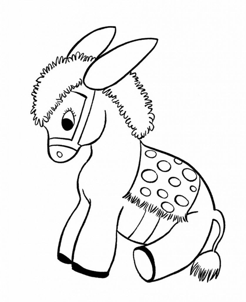 Free Printable Donkey Coloring Pages For Kids  Baby Donkey Donkey