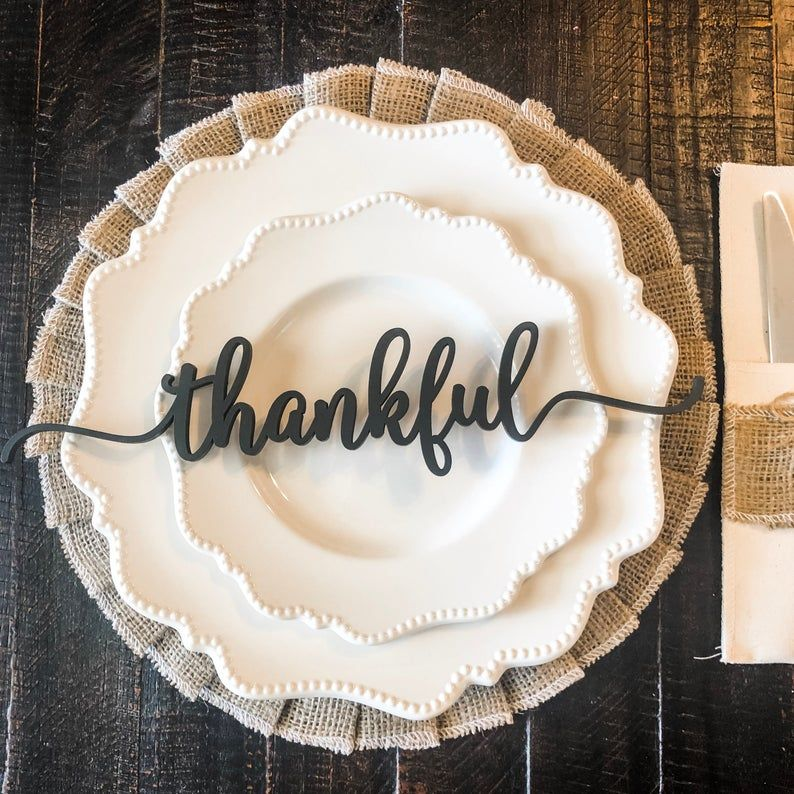 Thankful Place Cards   Thanksgiving Place Cards   Thanksgiving Place Setting   Thanksgiving Table Decor   Thankful Place Setting   Sign