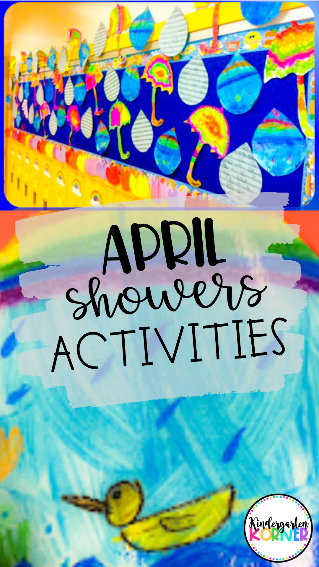 April Showers Bring May Flowers Raindrop Writing Craft