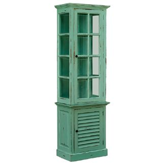 Farmhouse Tall Cabinet With Glass Door BR25402B