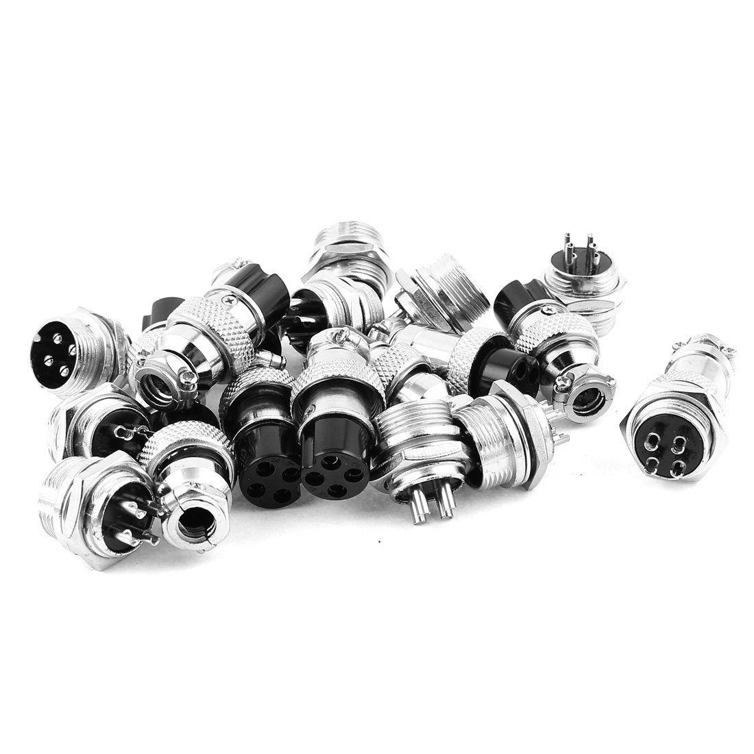 16mm Thread 4 Pins Panel Metal Aviation Plug Wire
