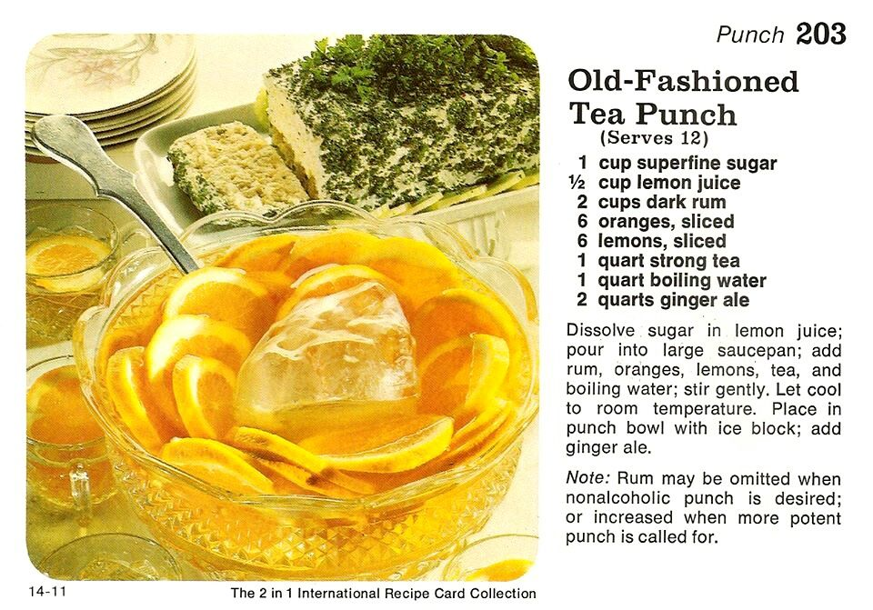 Old fashioned tea punch vintage recipes amp more pinterest