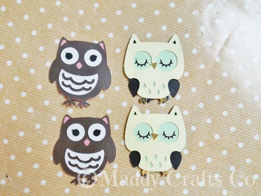 Owl card embellishment toppers animal scrapbook paper craft owl card embellishment toppers animal scrapbook paper craft supplies set of 4 by maddycraftsco on etsy jeuxipadfo Choice Image