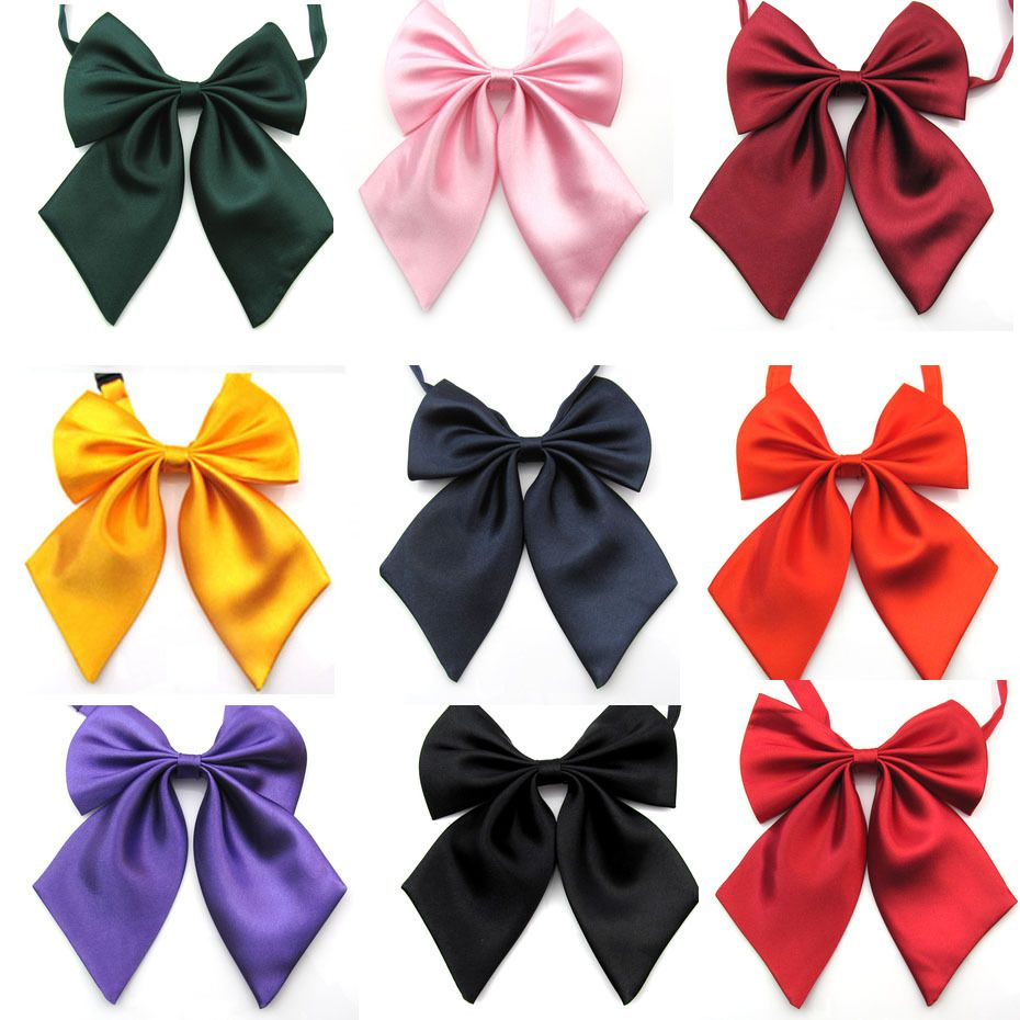 2014 NEW FASHION  LADY BOWS Female Cravat women's bow tie solid color bowtie cravat  9 colors options 5pie/lot-in Ties from Apparel & Accessories on Aliexpress.com | Alibaba Group