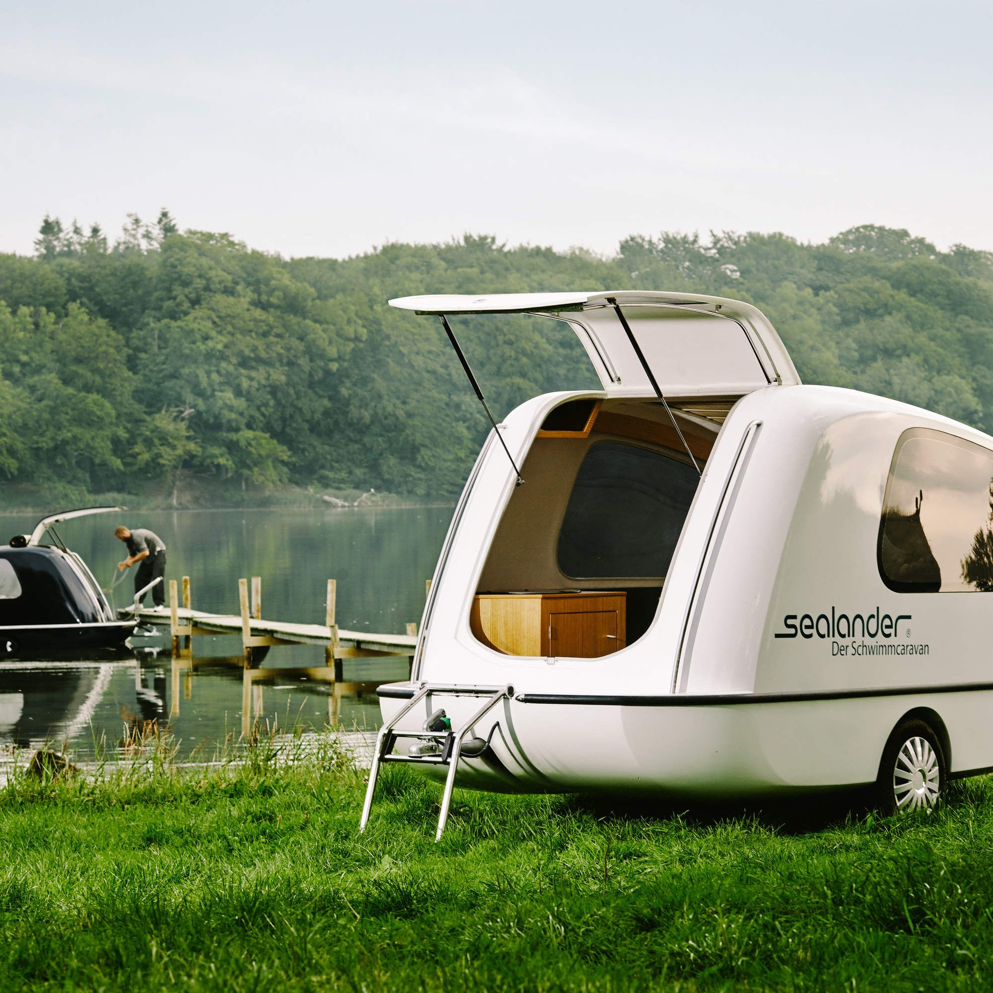 Sealander Amphibious Camping Trailer: The Amphibious Camper. This Could Work Out For Me