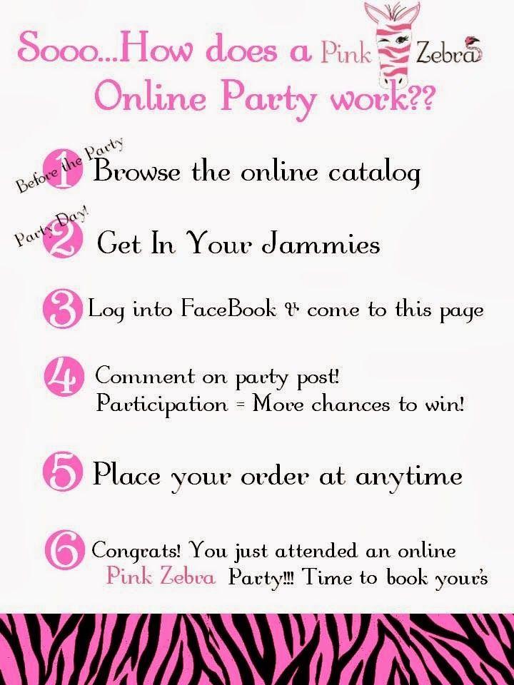 Online Facebook Party Pink Zebra How To