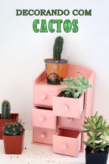 Se você adora cactos, vai adorar nossa seleção! São 4 ambientes selecionados com cactos na decoração. http://petitandy.com