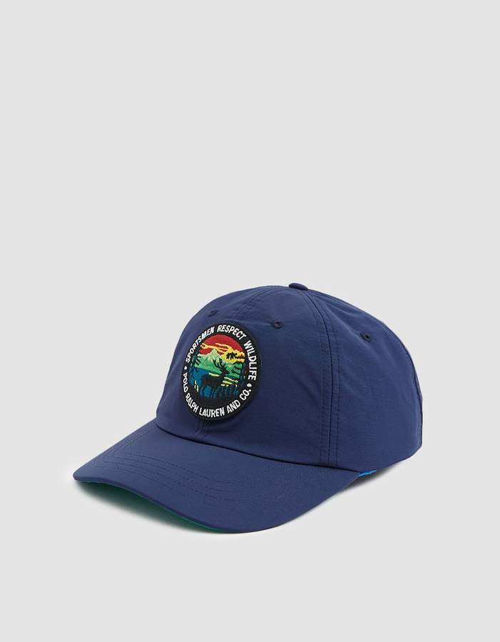 ef9fa76e649ad Polo Ralph Lauren   Sportsmen Respect Wildlife Nylon Cap in Newport Navy