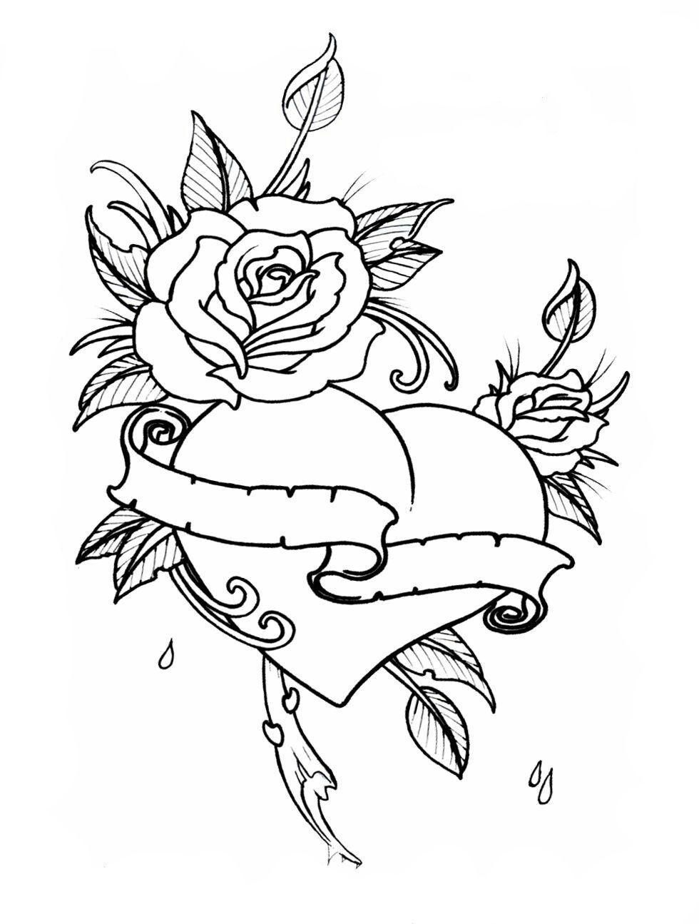 Colorir Com Imagens Paginas Para Colorir Desenhos Rosas