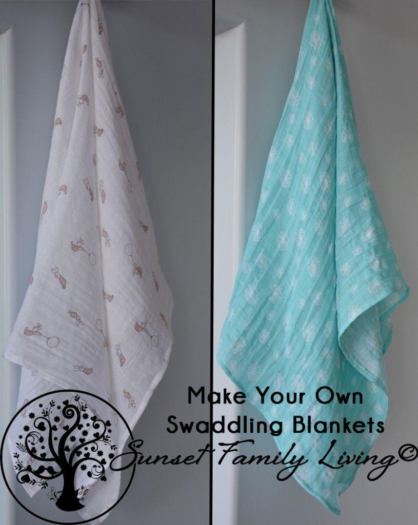 Free Tutorial How To Make Muslin Or Gauze Swaddling Blankets Swaddle Blanket Diy Gauze Swaddle Blanket Muslin Baby Blankets