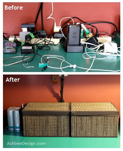 Ashbee Design Organizing Charging Station Charging Station Organization Hide Computer Cords