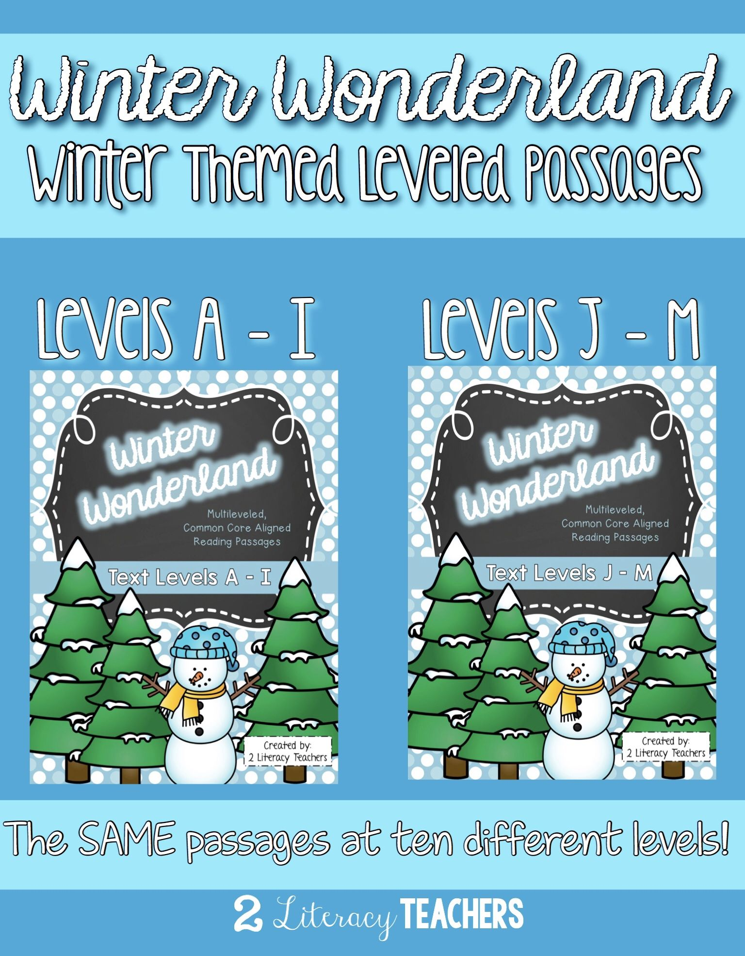 Winter Wonderland Ccss Aligned Leveled Passages