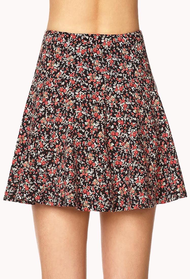 Rosebud Skater Skirt | FOREVER21 - 2000064173