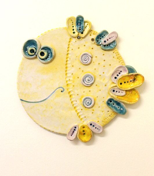 The Fish / Ceramic Wall Decor/ Made To Custom Order/ reserved for Masha