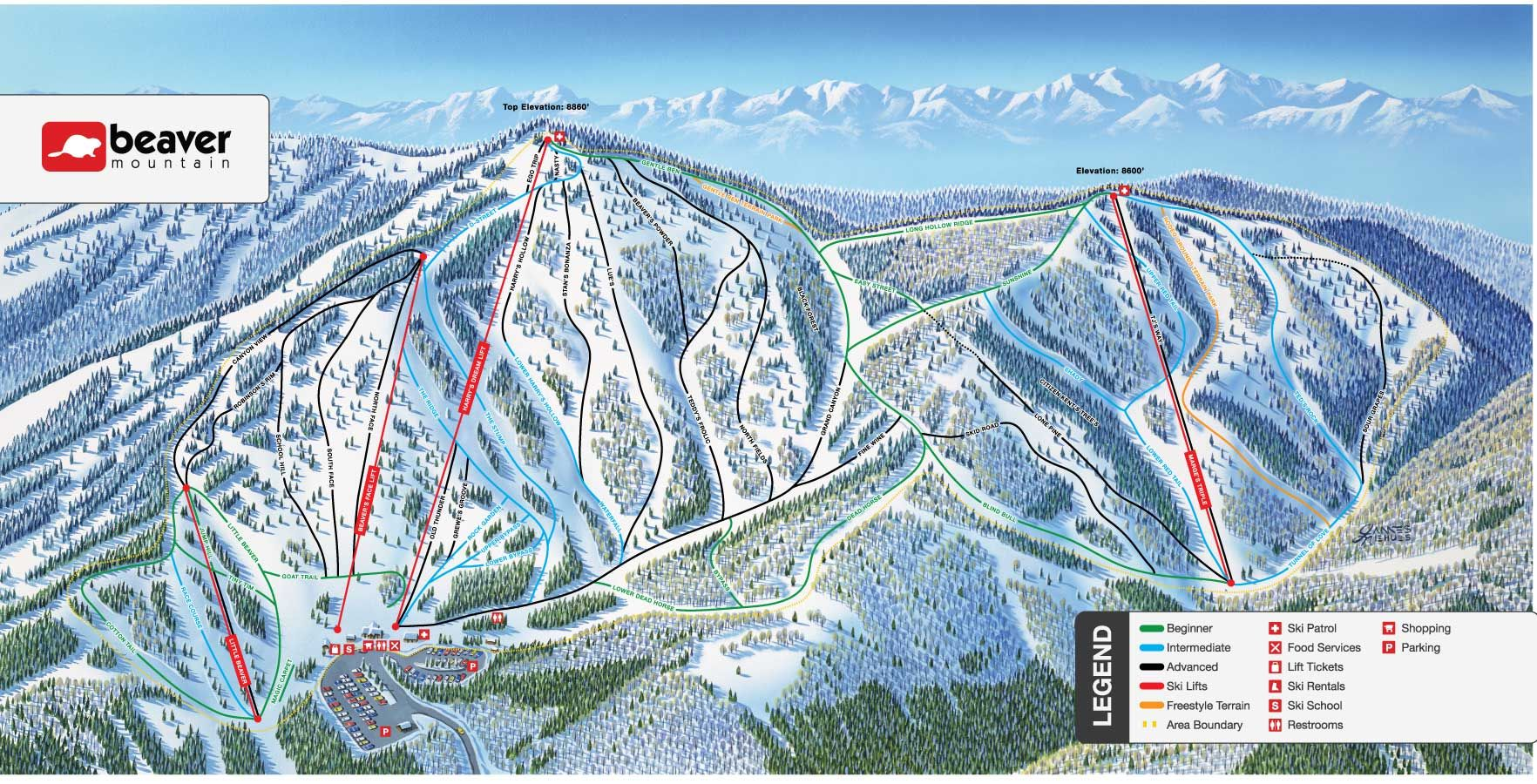 trail map | beaver mountain | trail maps | pinterest | skiing, trail