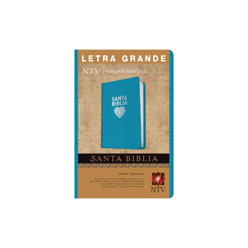 Santa Biblia / Holy Bible : Nueva traduccion viviente, SentiPiel Aguamarina, Edicion Personal