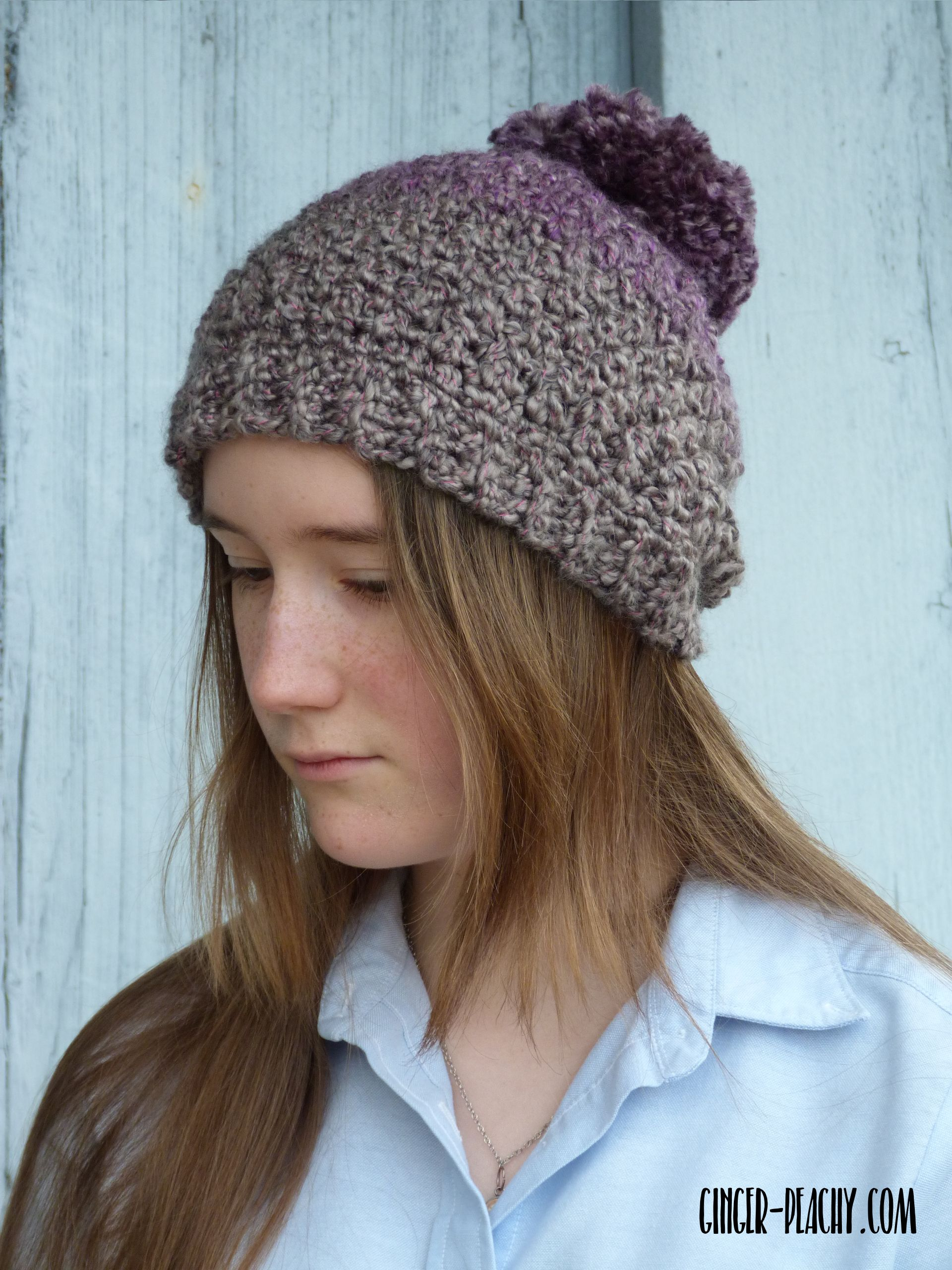 Juneau Beanie | Free Crochet Pattern at Ginger-Peachy.com | Crochet ...
