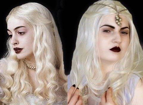 How To Recreate The White Queen Look From Alice In Wonderland Alice In Wonderland Makeup Halloween Alice In Wonderland Wonderland Makeup