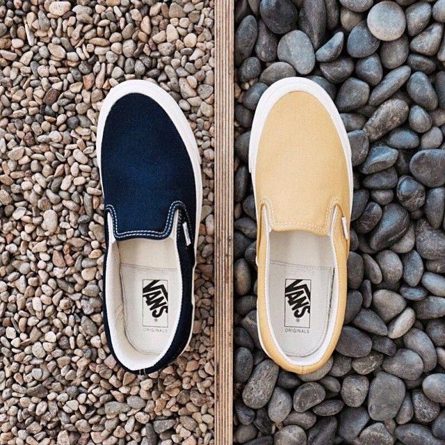 d039a7b26cdb17 OG Classic Slip On in Peacoat and Ceylon Yellow
