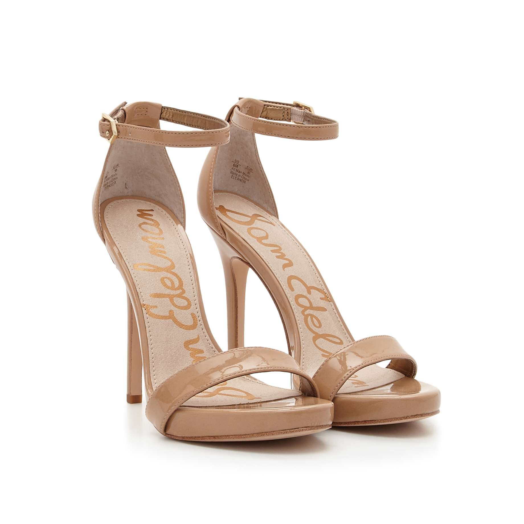 3d92e5c3aaa54 Eleanor Ankle Strap Sandal by Sam Edelman - Almond Patent - View 1 ...