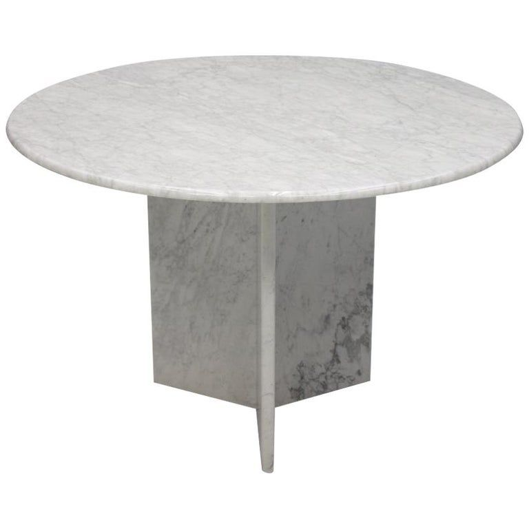 White Carrara Marble Dining Table Italy 1970s In 2020 Dining Table Marble Vintage Dining Room Table Dining Table