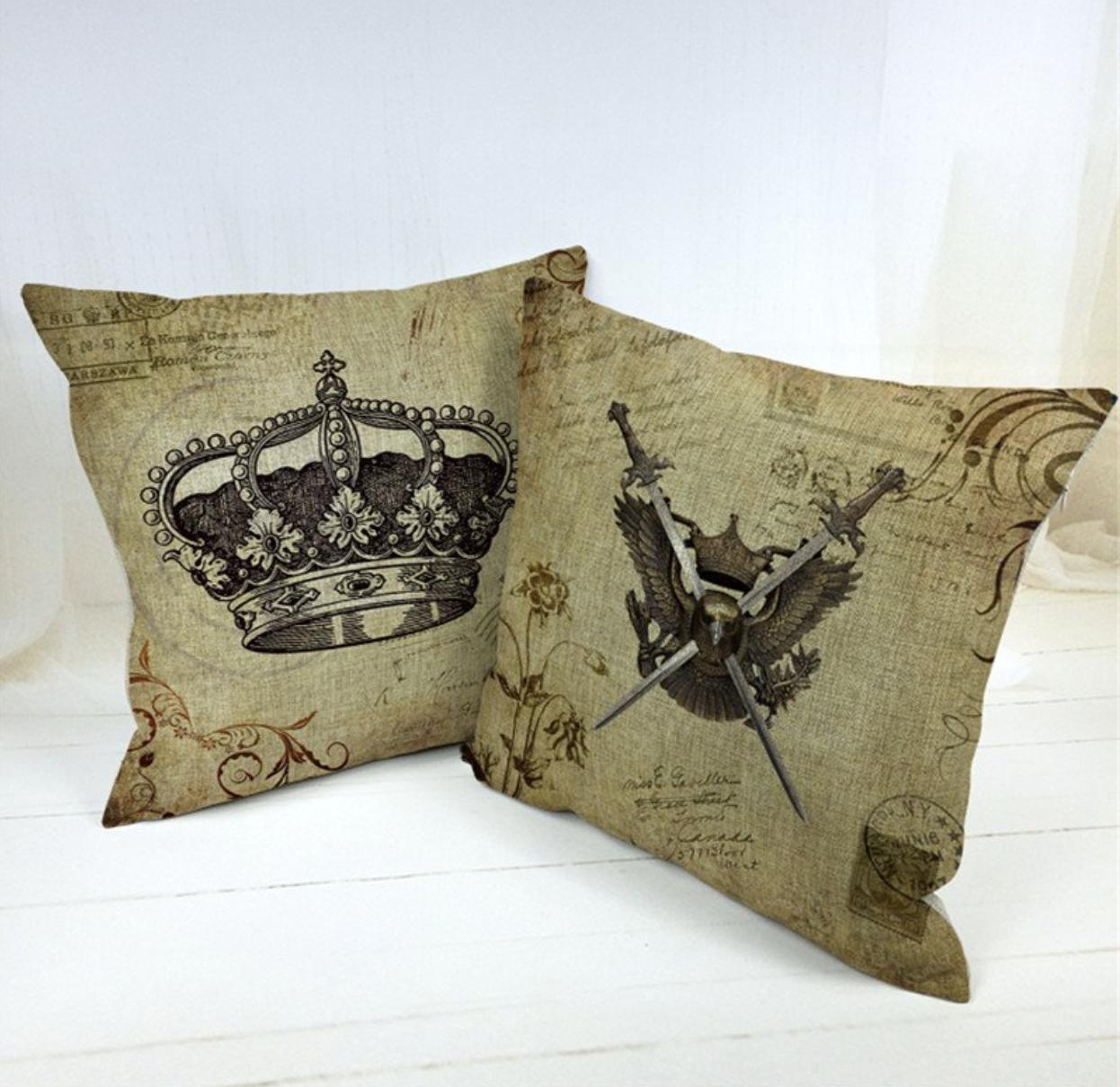 Vintage crown and eagle swords vintage pillow covers pinterest