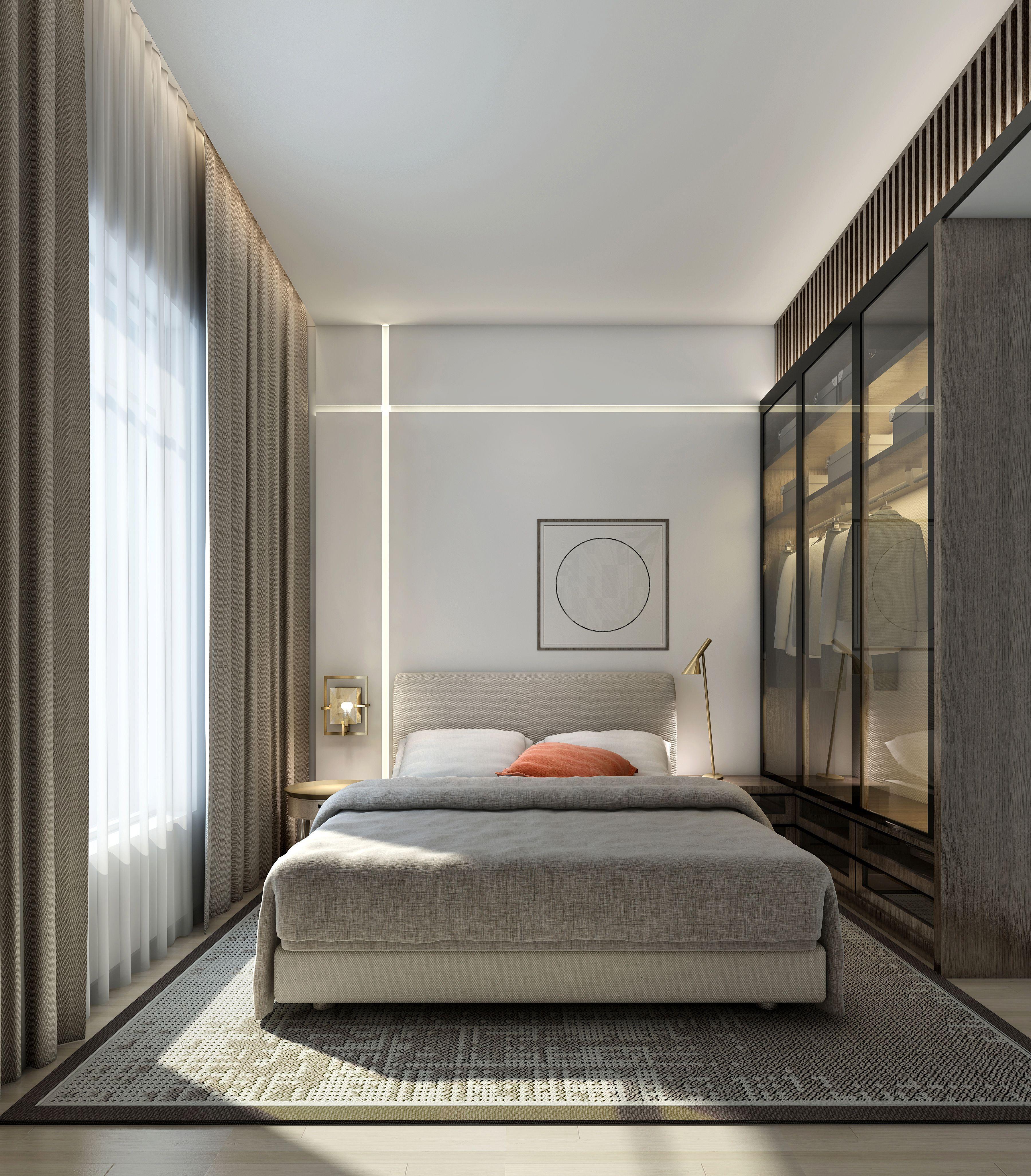 101 Best Small Apartment Bedroom Decor Ideas Decoratoo Apartment Bedroom Decor Modern Bedroom Design Small Master Bedroom Bedroom design modern contemporary