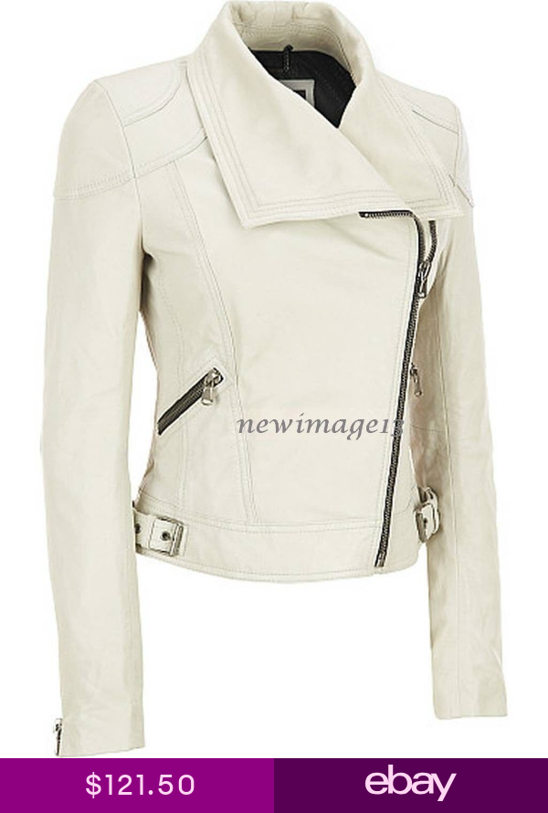 NEW 100 GENUINE WOMENS SOFT LAMBSKIN LEATHER BOMBER BIKER