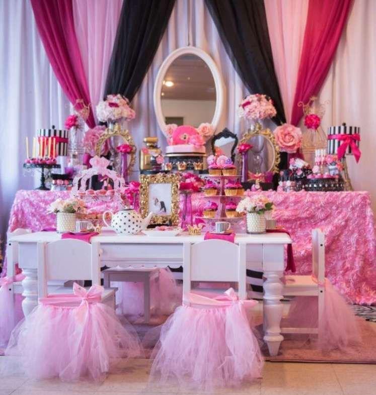 Makeup Gala Boutique/Tea Party Birthday Party Ideas