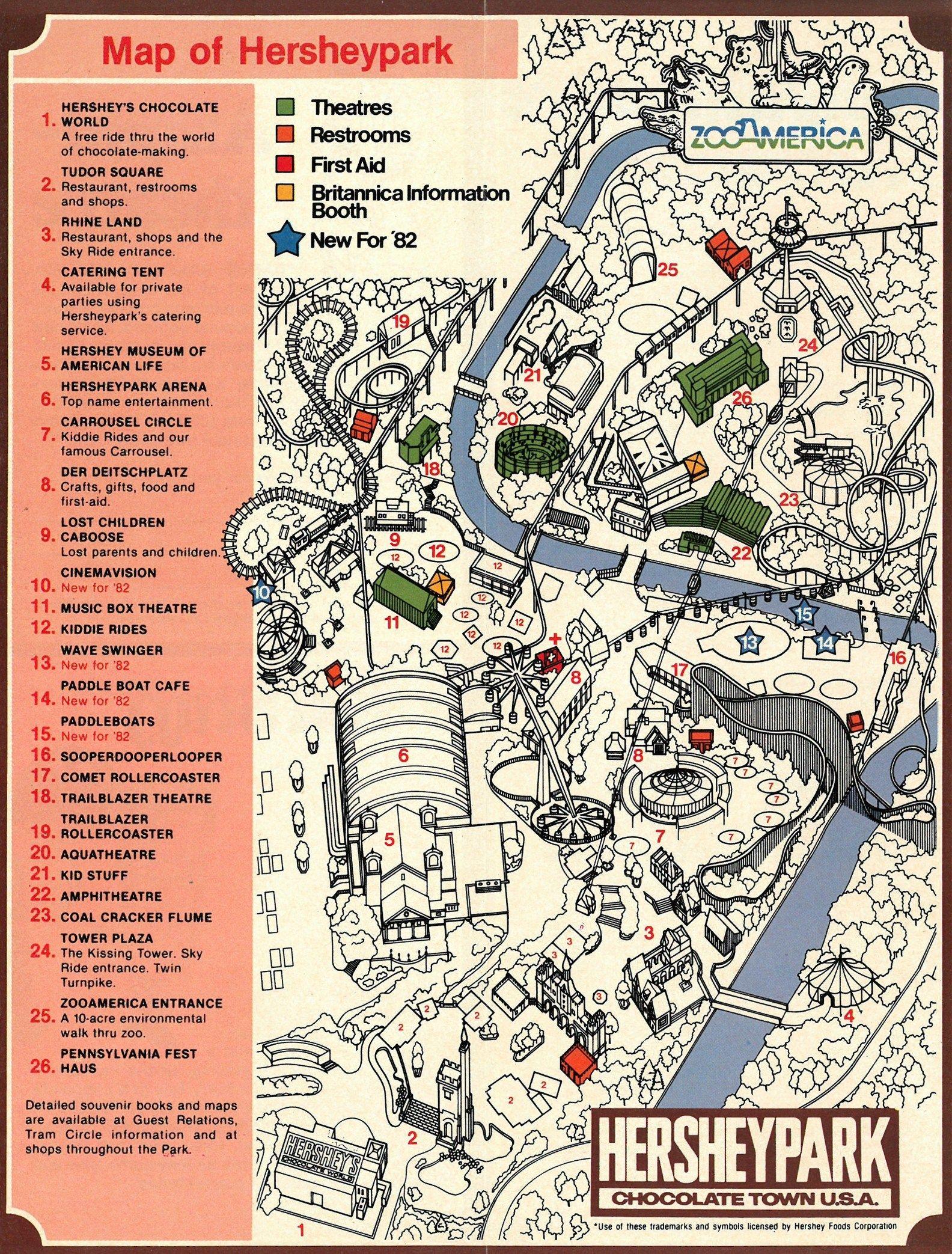 Hershey Park Maps : hershey, Amusement, Parkives, Amusement,, Hershey, Park,