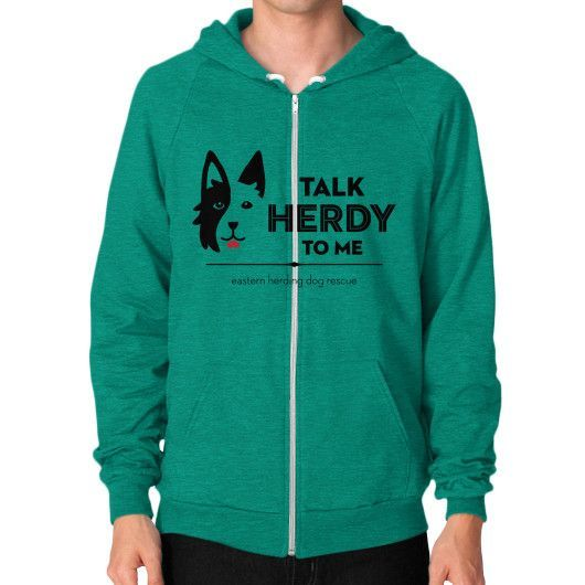 Help the Herders Zip Hoodie (on man)